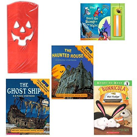 Halloween Books & Luminaries 4 Piece Party Pack Ages 3+ (Halloween Luminaries)