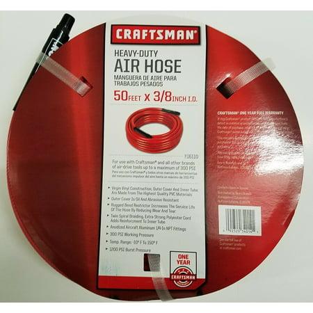 Craftsman Heavy Duty Air Hose 50 Feet x 3/8 Inches