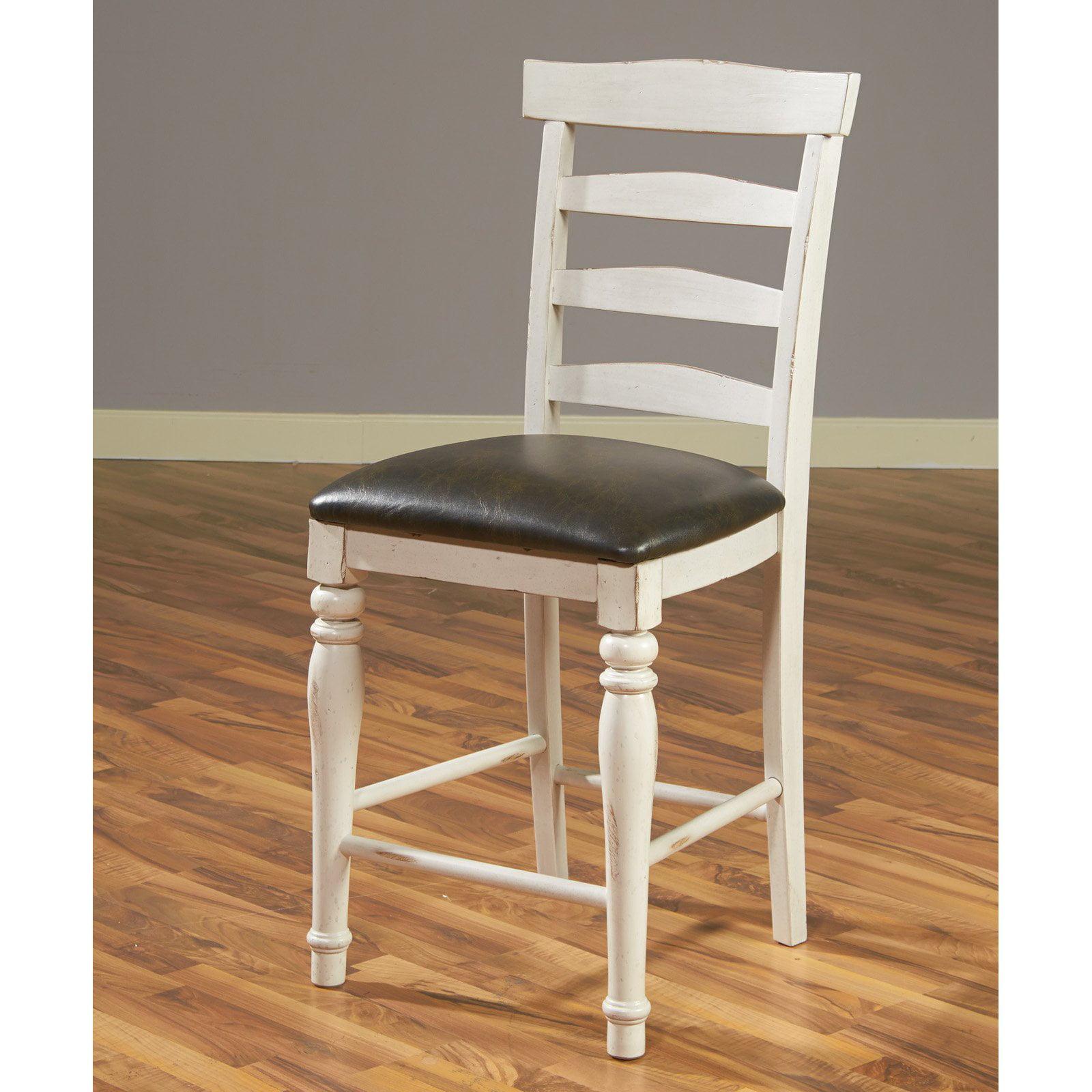 Sunny Designs Bourbon 24 In Ladder Back Upholstered Counter Stool