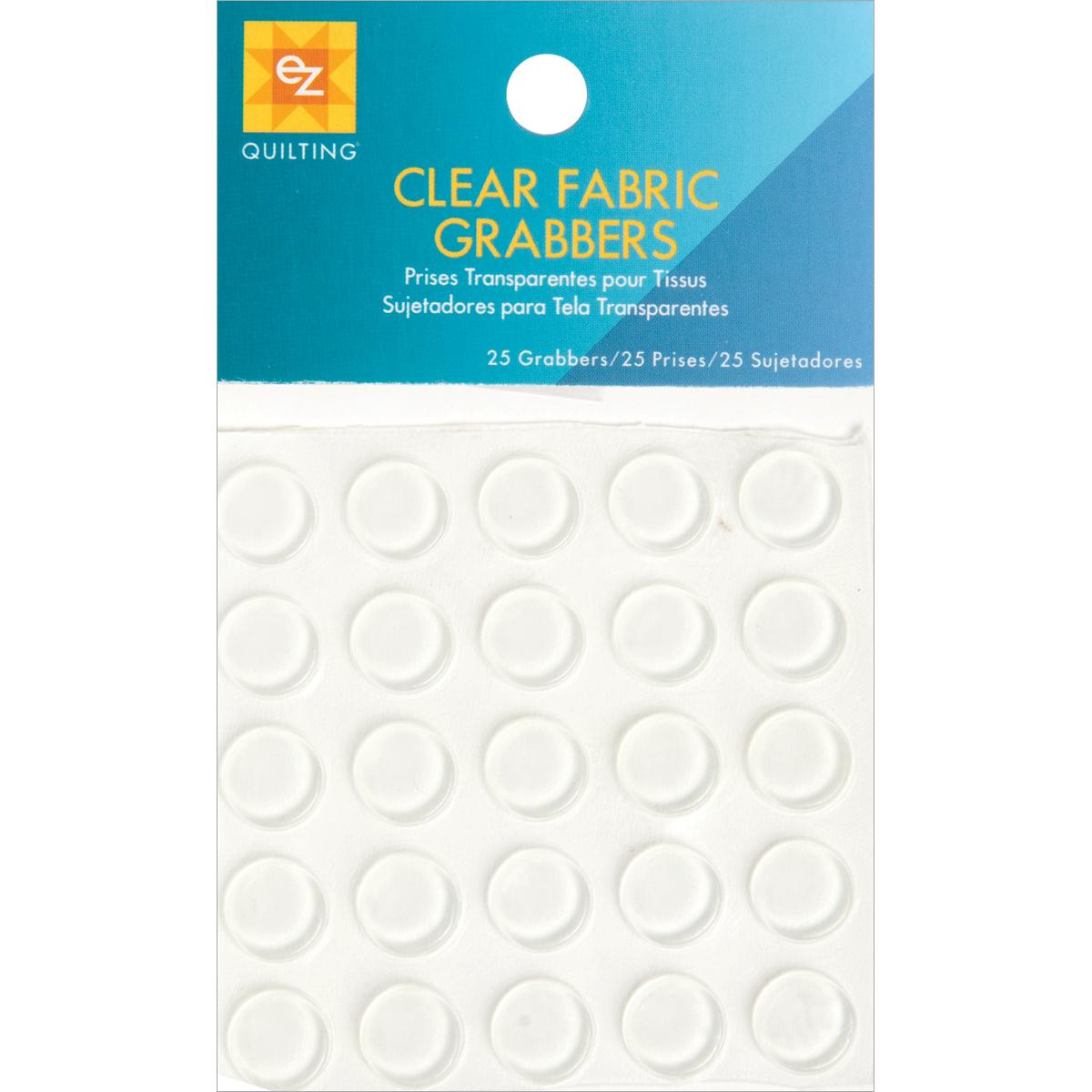 Clear Fabric Grabbers-25/Pkg
