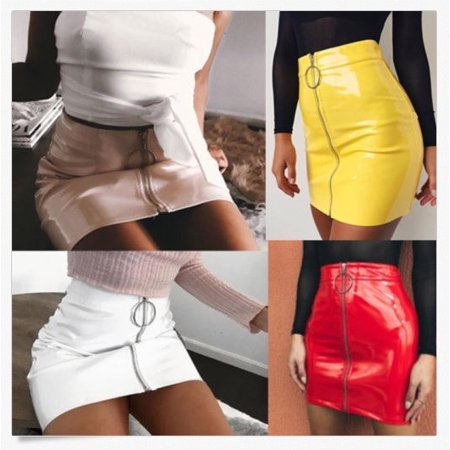 Fashion Women´s Ladies Casual High Waist A-Line Bodycon Pencil Mini Short