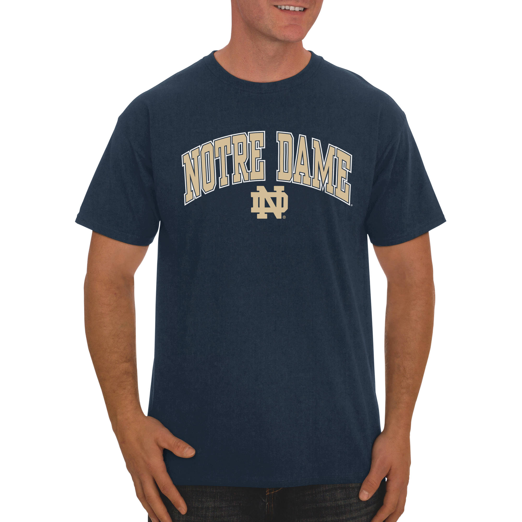 Russell NCAA Notre Dame Fighting Irish Big Men's Classic Cotton T-Shirt