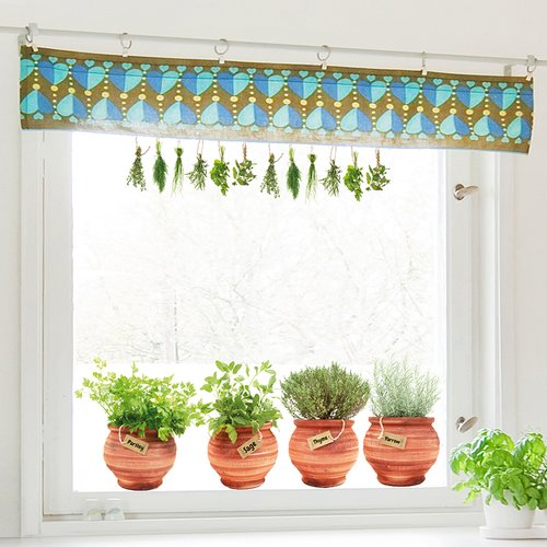 WallPops! Pots 6 Piece Window Decal Set