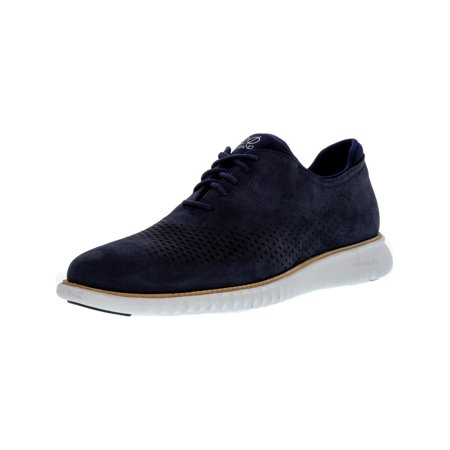 Cole Haan Oxford Heels - Cole Haan Men's 2 Zerogrand Laser Wing Marine Blue Ankle-High Leather Oxford Shoe - 11M