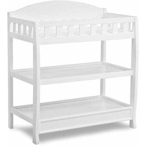 Delta Children Wilmington Changing Table With Pad, Dark Chocolate    Walmart.com