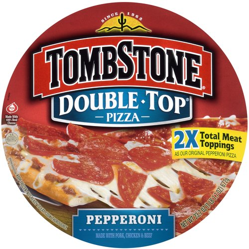 Tombstone Double Top Pepperoni Pizza, 23.7 oz