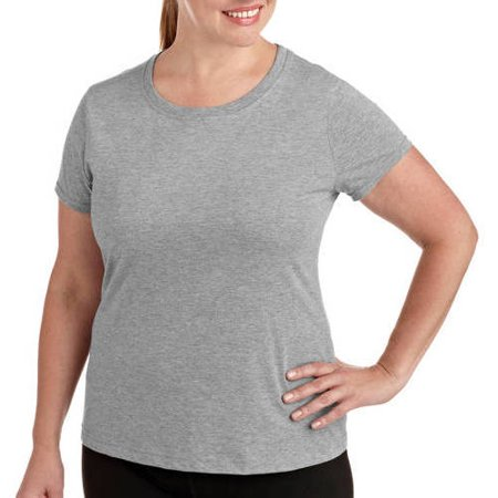 963b2b813b5 Danskin Now - Danskin Now Womens Plus Size Dri More Core Workout Tee With  Wicking - Walmart.com