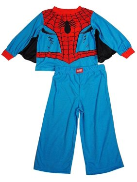 Spiderman Toddler Boys Long Sleeve Flame Resistant Sleep Pajama Set, 38238 blue / 2T