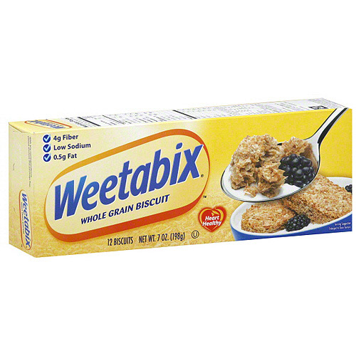 Weetabix Whole Grain Biscuits, 7 oz (Pack of 12)