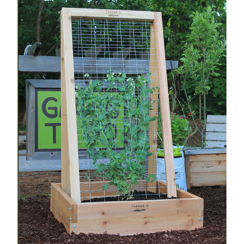 Farmer D A-Frame Wood Lattice Panel Trellis