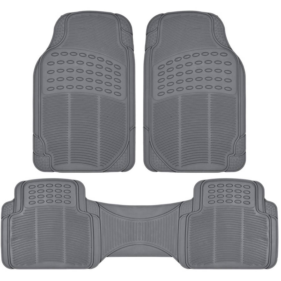 4 pc XS Van Gray Grey Front /& Rear Utility Heavy Duty Rubber Floor Mats Set