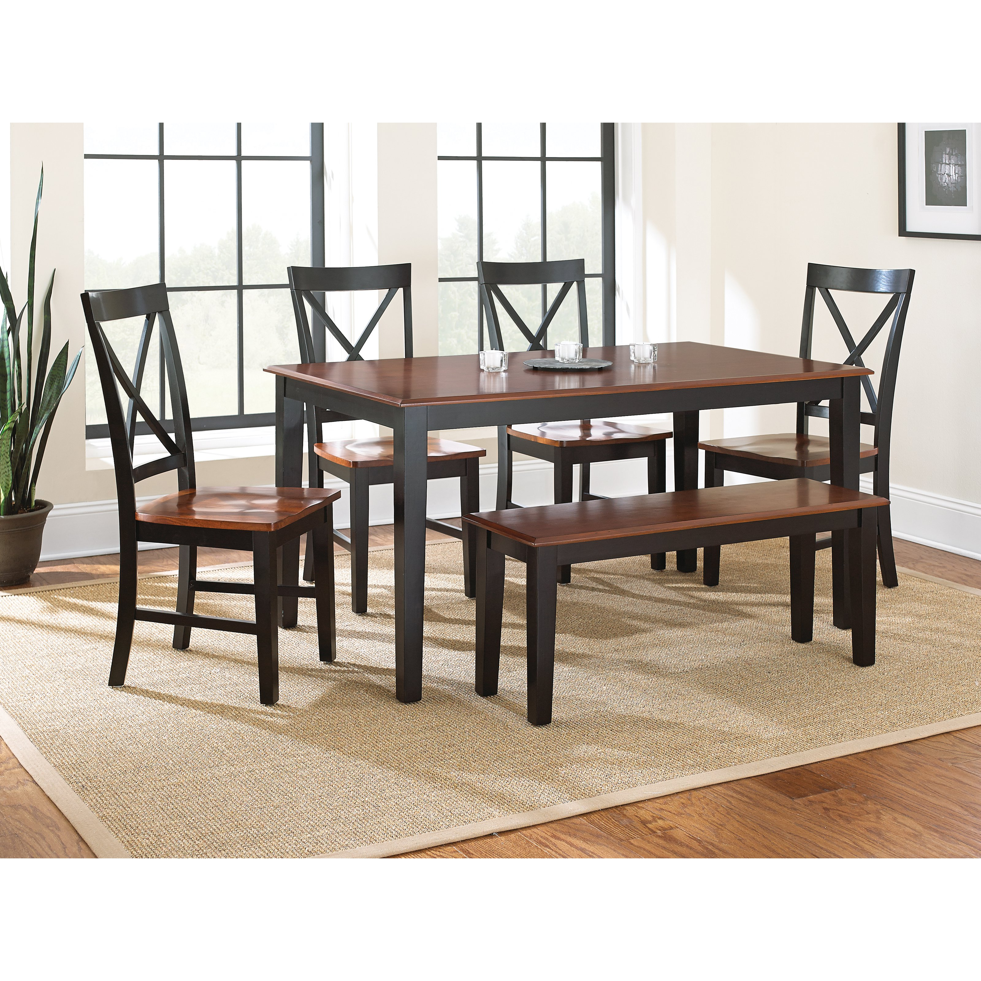 steve silver kingston 6 piece dining table set - Steve Silver Furniture