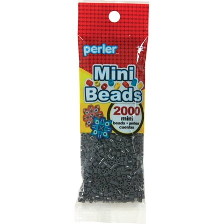 Mini Perler Beads 2000/Pkg-Dark Grey