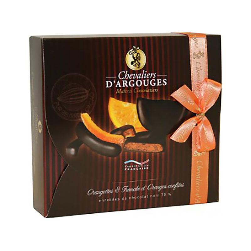 Assortment Of Chocolate Covered Orange Slices And Orange ...
