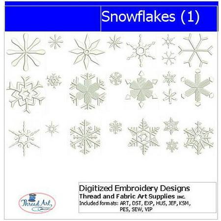 - Threadart Machine Embroidery Designs Snowflakes(1) CD