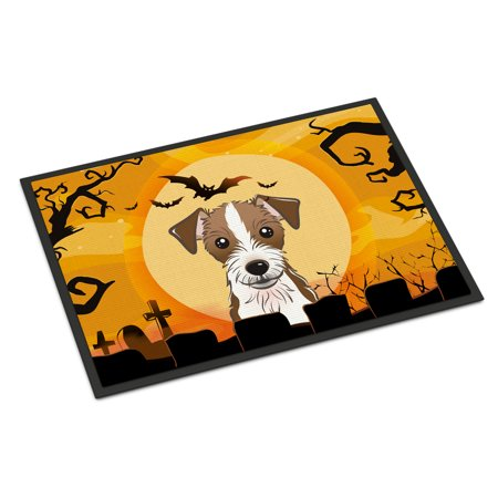 Halloween Jack Russell Terrier Door Mat