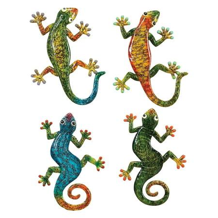 Decmode Polystone Gecko, Multi Color