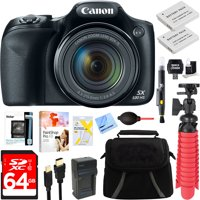 Canon PowerShot SX530 HS 16.0 MP 50x Optical Zoom Digital Camera (Black) + Two-Pack NB-6L Spare Batteries + Accessory Bundle