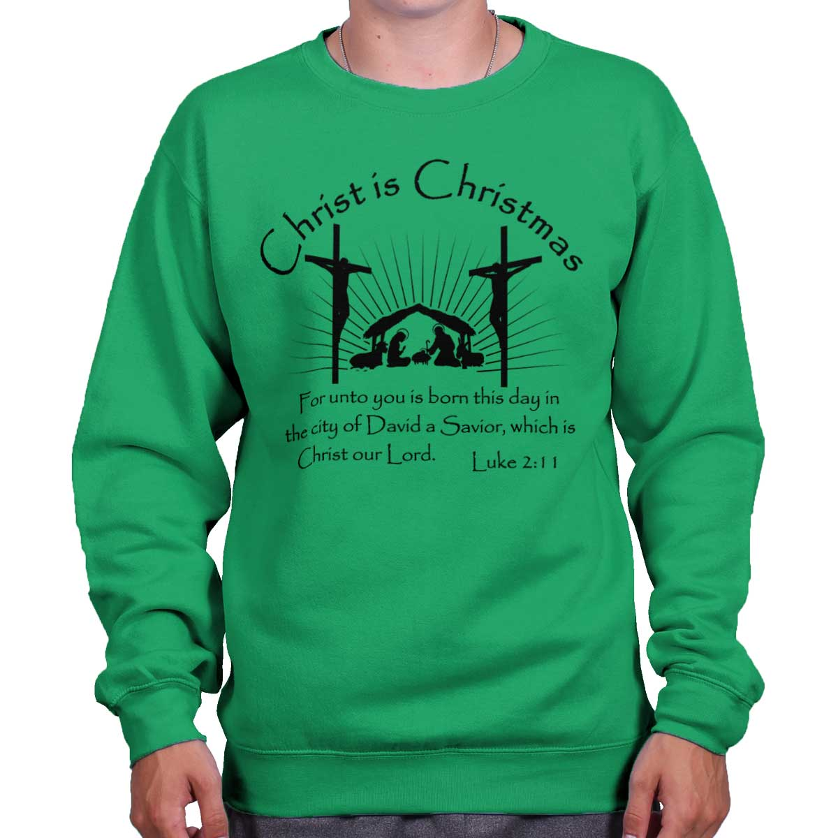 b468b2d41 Brisco Brands - Jesus Christ Christmas Christian Shirt Holiday ...