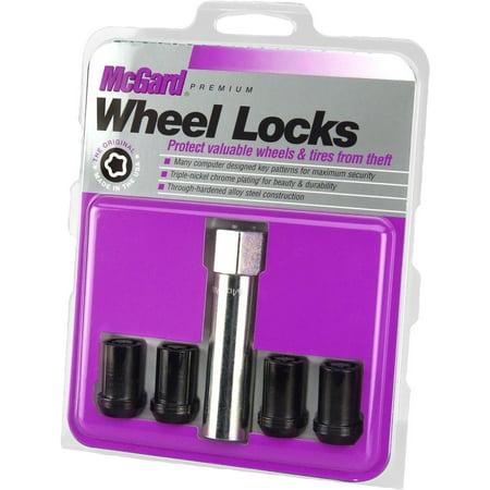 - McGard 25357 Chrome/Black Tuner Style Cone Seat Wheel Locks (M12 x 1.5 Thread Size) - Set of 4