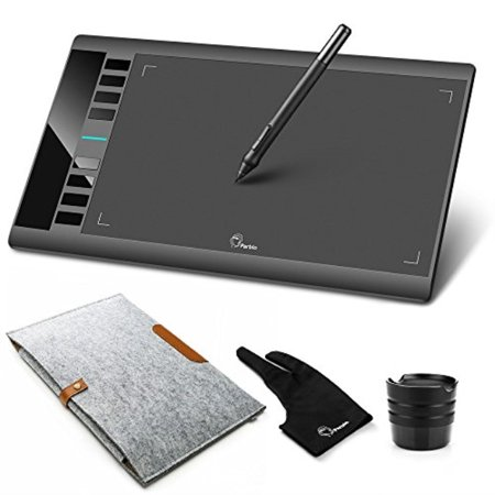 """parblo a610 graphic drawing tablet with 2048 levels pressure pen, carry bag, drawing tablet glove, 10"""" x 6"""" drawing tablet for digital art works"""