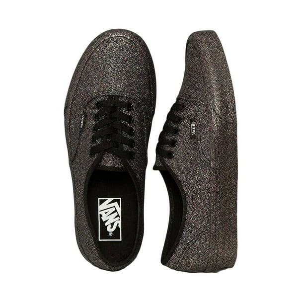 Vans Authentic Rainbow Glitter Black Women's Skate Shoes Size 6.5