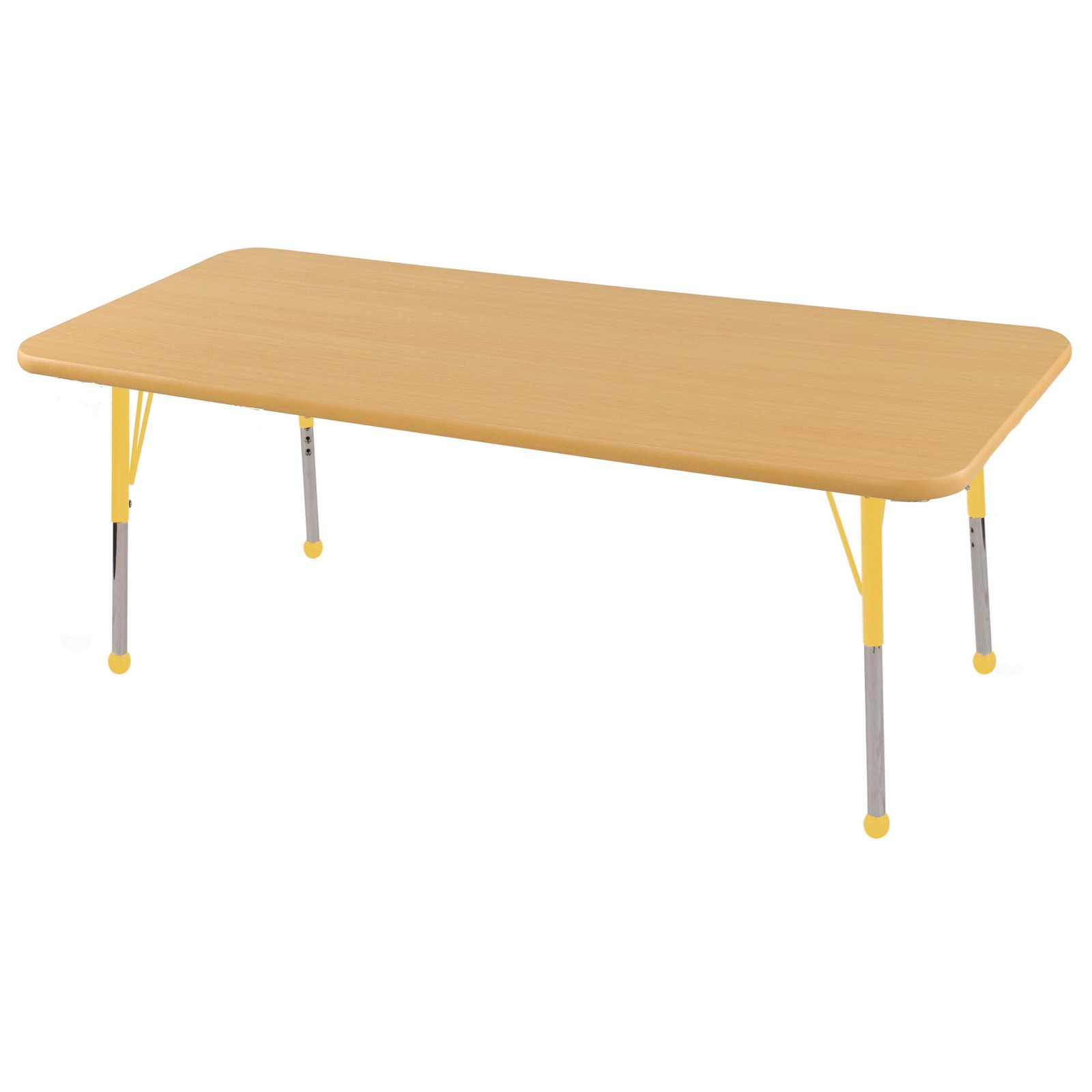 """30x60"""" Rectangle Table-Color:Maple-Yellow,Glide:Toddler Swivel"""