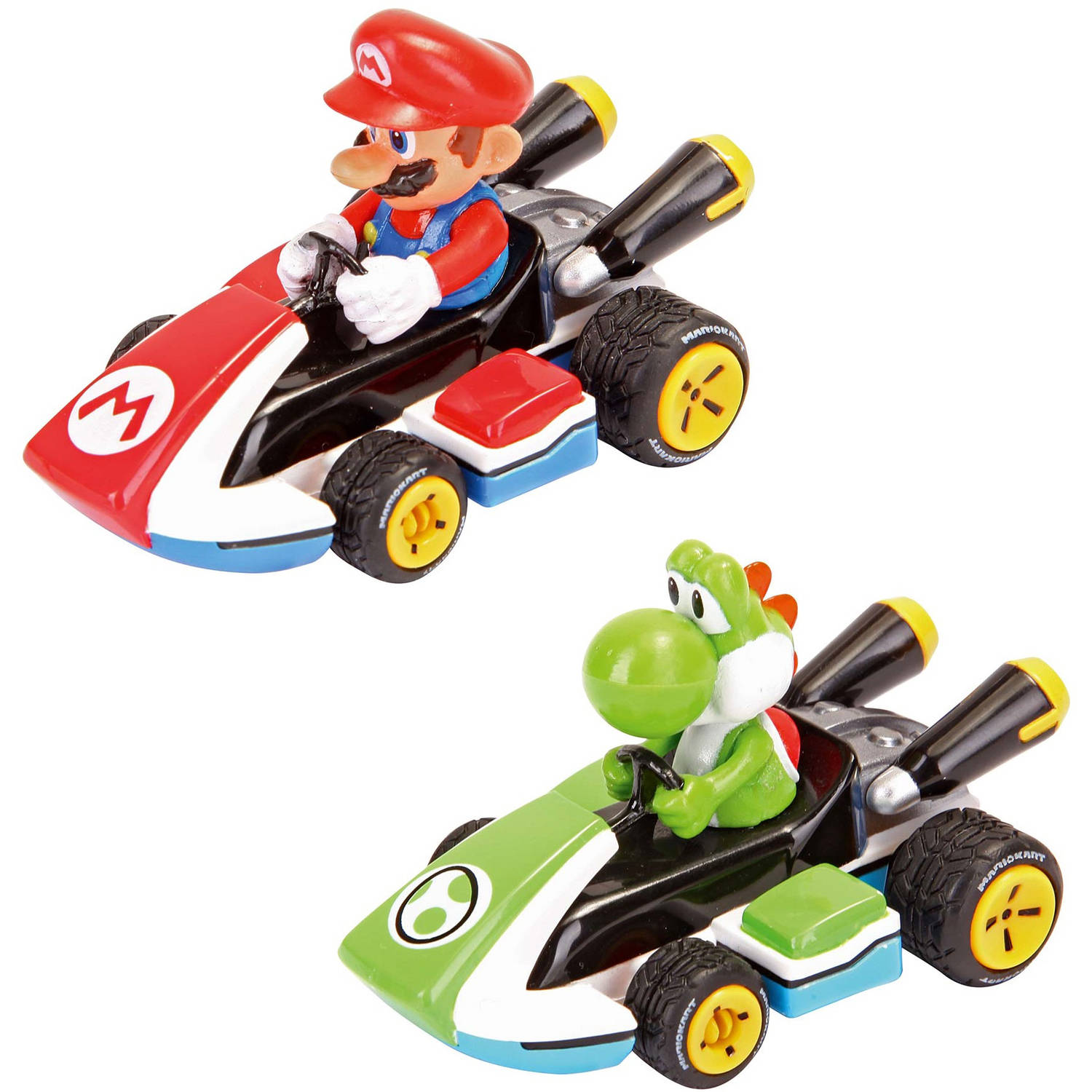 Carrera Pull and Speed Mario Kart 8 Twin-Pack Racers, Mario and Yoshi