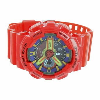 Mens Shock Resistant Sport Watch Special Edition Analog Digital Multi Color Dial