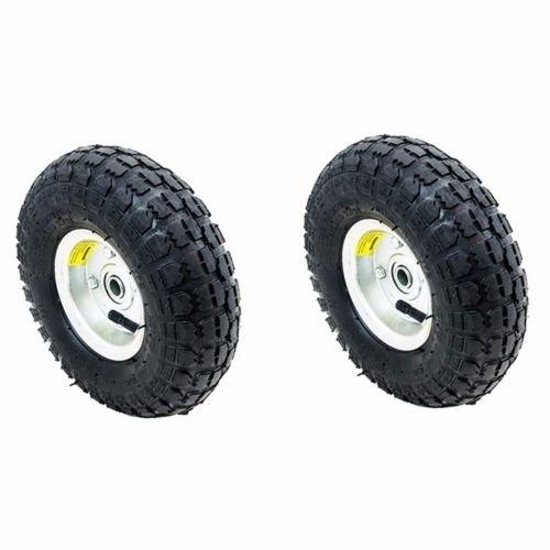 "New MTN-G 2PC Tires Set 10"" Steel Air Pneumatic Wheel Han..."