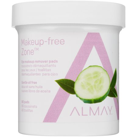 Daily Eye Makeup Remover - (2 pack) Almay oil free gentle eye makeup remover pads 80 ct jar