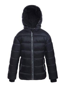 Rokka&Rolla Boys' Heavyweight Hooded Puffer Jacket Bubble Coat sizes 4-18