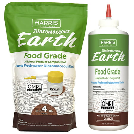 Harris Diatomaceous Earth Food Grade Kit, 4.5 LB. (Best Diatomaceous Earth Food Grade)