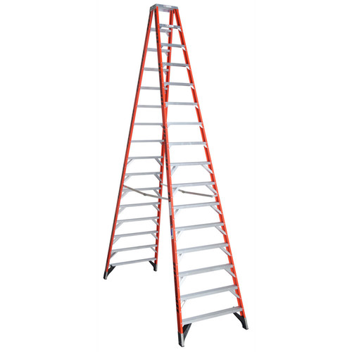 Werner T7416 16 ft. Type IA Fiberglass Twin Ladder by Werner