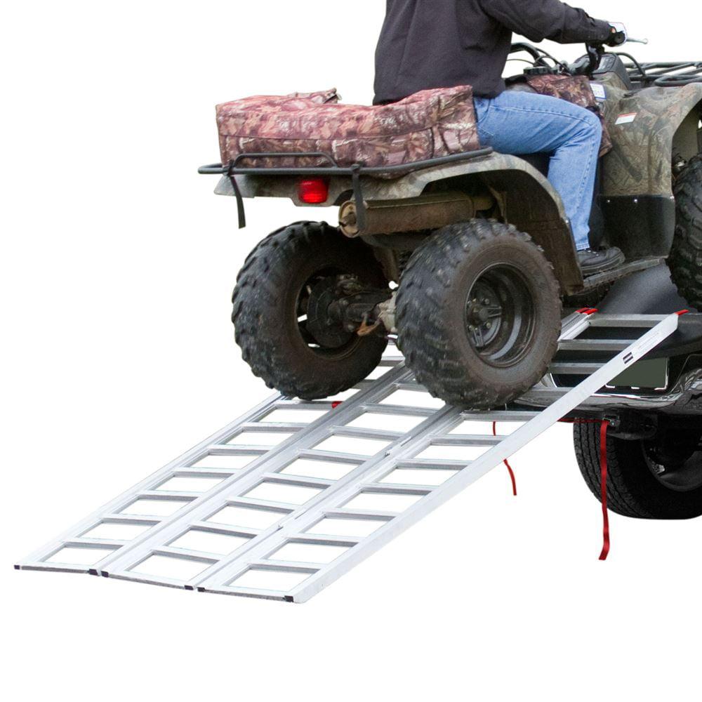 "Full Width Tri-Fold Aluminum ATV Loading Ramp 77"" x 54"""