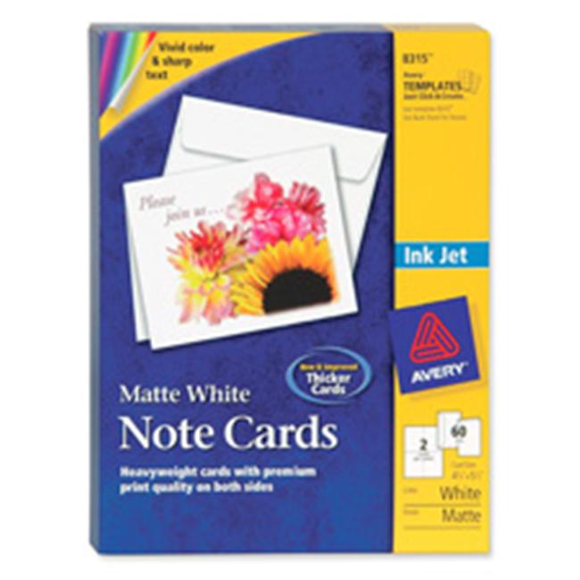 Avery Consumer Products AVE8317 Inkjet Embossed Cards- 5-. 50inchx4-. 25inch- IY