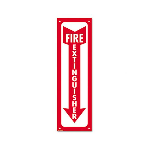 Consolidated Stamp Fire Extinguisher Glow-In-The-Dark Sign in Red by Cosco