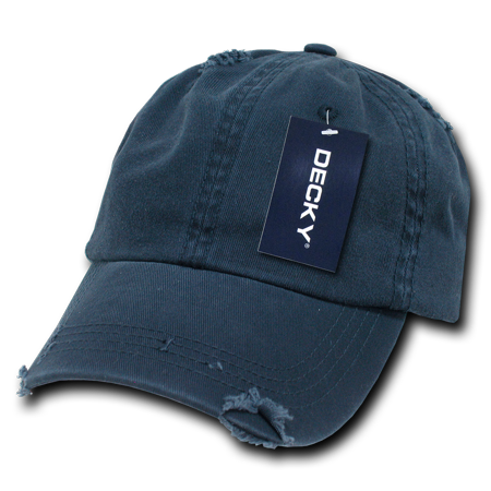 2f710b7b231 DECKY Vintage Frayed Washed Polo Hats Hat Caps Cap For Men Women Navy -  Walmart.com