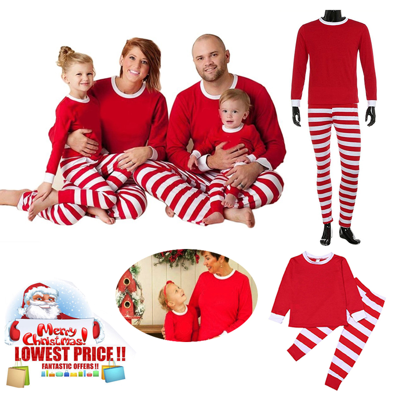 Christmas Pajamas Women Men Baby Boy Girl Christmas Party Family Matching Set Long Sleeve Blouse Christmas Matching Shirt