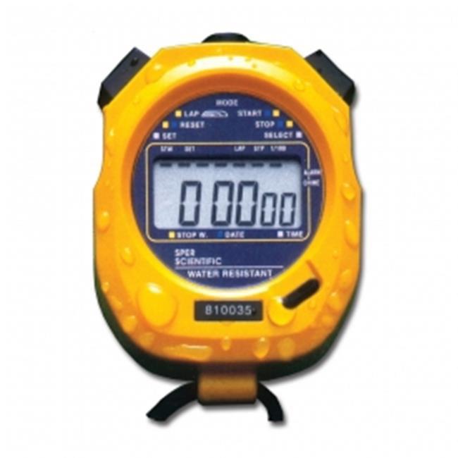 Sper Scientific 810035 Large Display Water Resistant Stopwatch