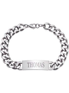 Personalized Men's Stainless Steel ID Bracelet