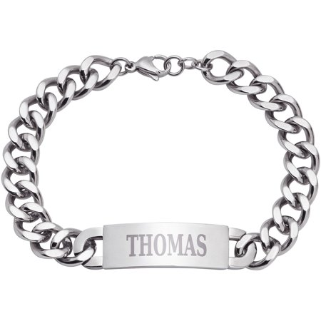Personalized Men's Stainless Steel ID Bracelet