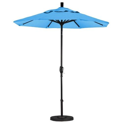 California Umbrella 7.5' Market Patio Umbrella with Push Tilt in Capri