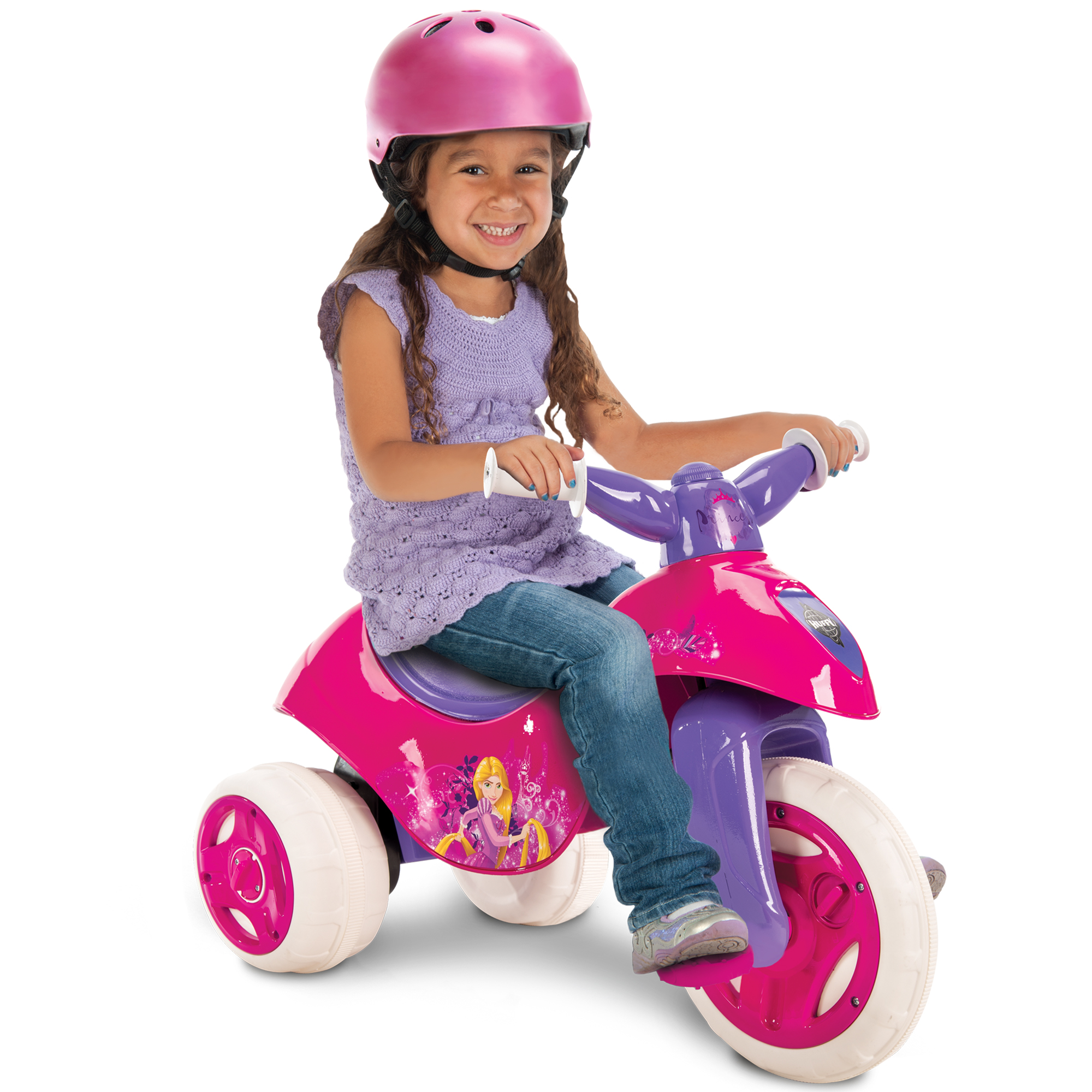 Disney Princess 6V Battery-Power Ride On Pink Tricycle, by Huffy