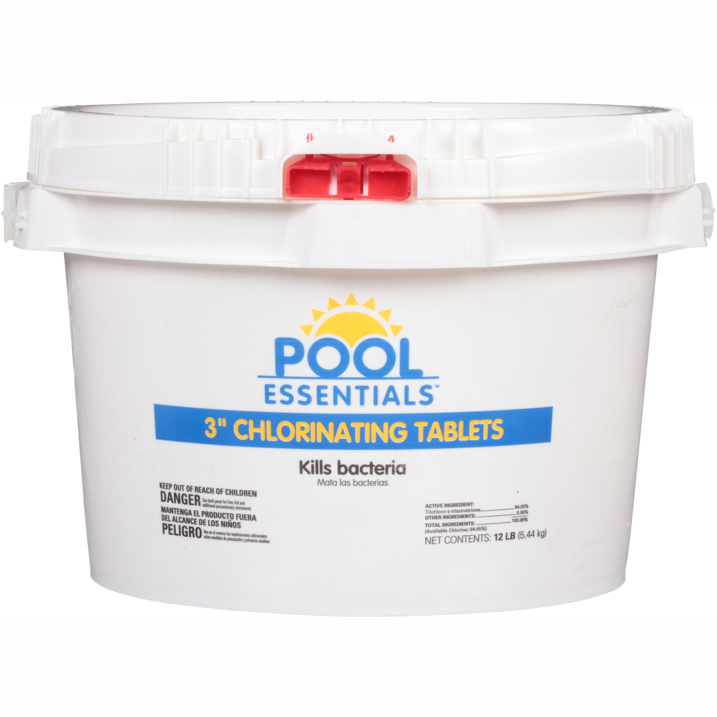 """Pool Essentials™ 3"""" Chlorinating Tablets 12 lb. Plastic Container"""