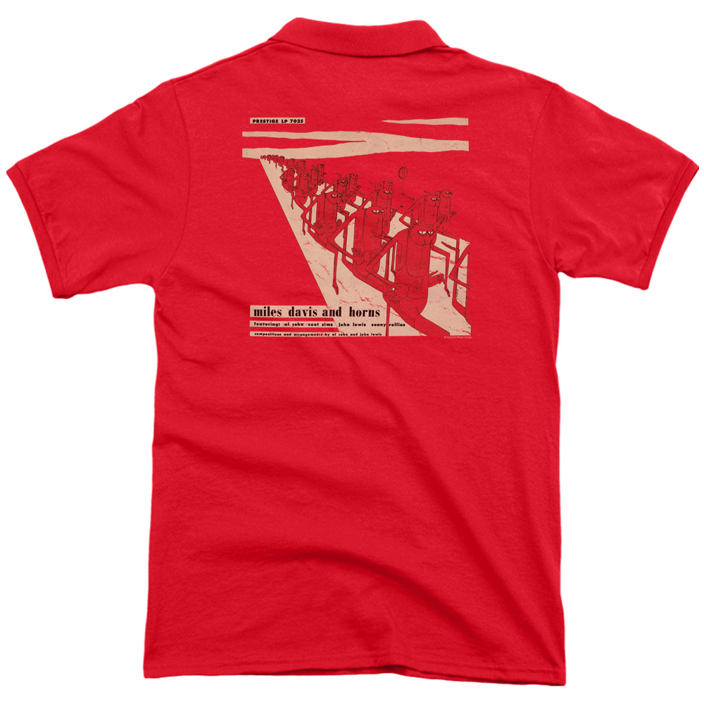 Miles Davis Davis And Horn (Back Print) Mens Polo Shirt