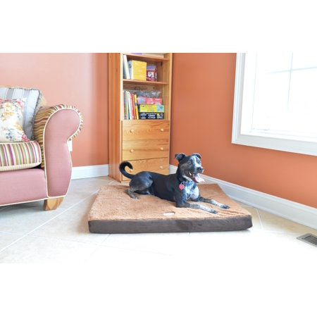 Armarkat Memory Foam Orthopedic Pet Bed Pad in Mocha and Brown, 24-Inch by 18-Inch by 2-Inch M06HKF/ZS-S