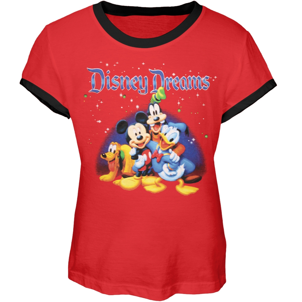Disney - Characters Galore Girl's Youth Ringer T-Shirt