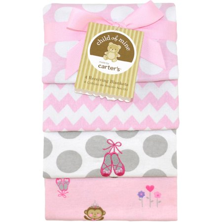 Child Of Mine By Carter S Ballerina Monkey 4 Pack Flannel