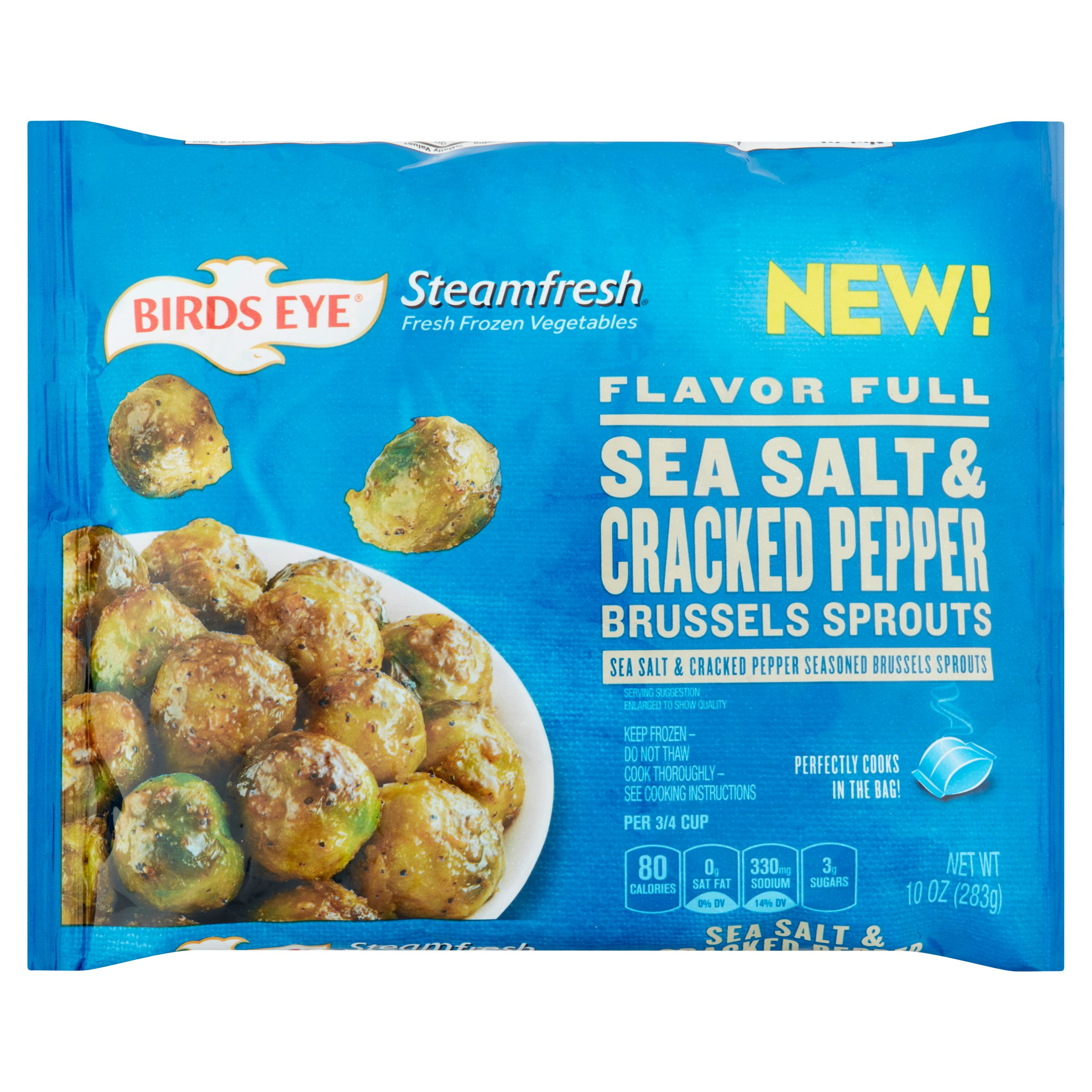 Birds Eye Steamfresh Flavor Full Sea Salt & Cracked Pepper Brussles Sprouts, 10 oz